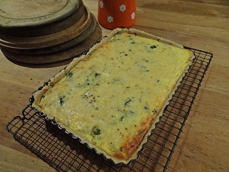 spinach, cheese &onion tart