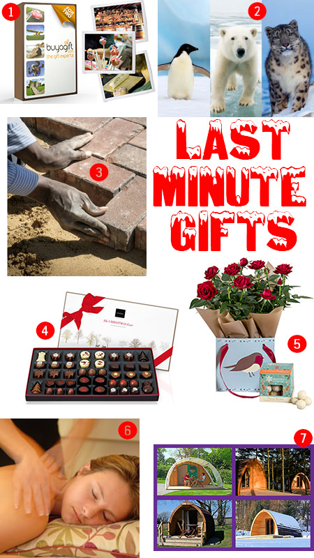 Selection of last minute gifts for Christmas