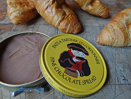 Tin of fine chocolate spread