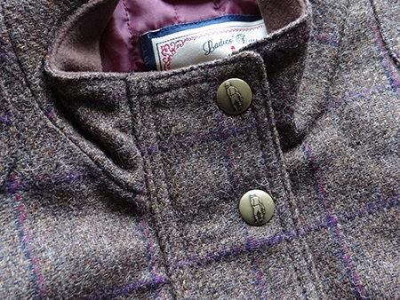 Tweed jacket detail