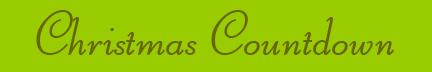 """""""Christmas Countdown"""" blog post banner"""