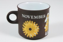 "vintage ""November"" mug produced by Hornsea Pottery 