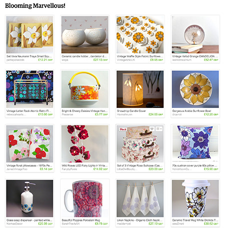 'Blooming Marvellous!' Etsy List curated by H is for Home