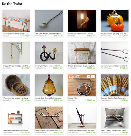 'Do the Twist' Etsy List curated by H is for Home