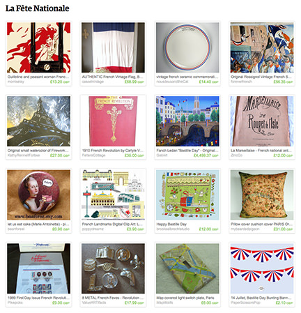 La Fête Nationale Etsy List by H is for Home