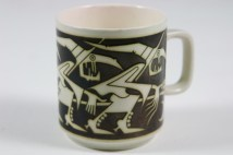 vintage Hornsea Pottery mug with witches