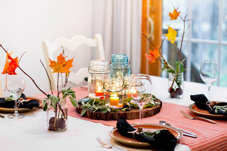 Autumn-inspired table setting