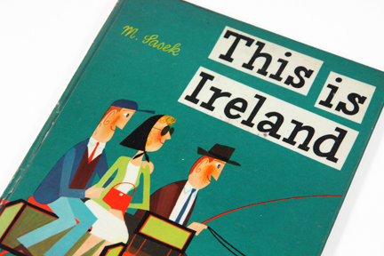 detail of vintage book cover, 'This is Ireland' by Miroslav Sasek | H is for Home
