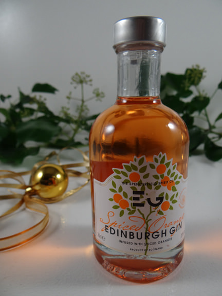 spiced orange Edinburgh gin from a John Lewis Christmas hamper