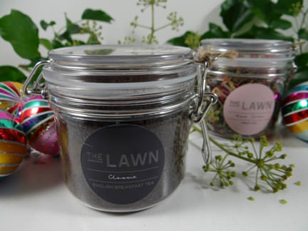 jars of loose teas from a John Lewis Christmas hamper