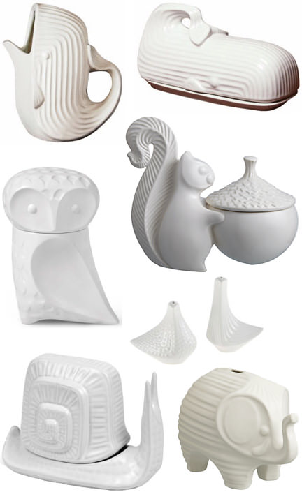 Pottery items from Jonathan Adler's 'Menagerie' range | H is for Home