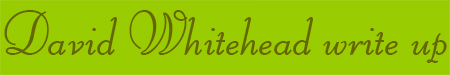 'David Whitehead write up' blog post banner