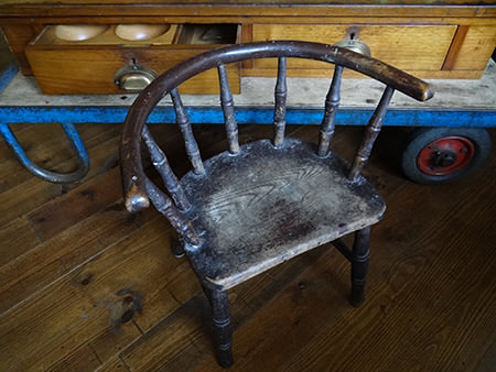 19th century wooden child's armchair
