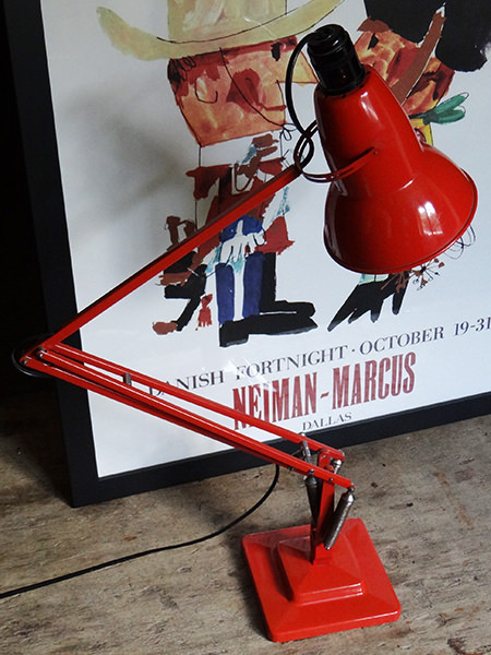 Orange original vintage Anglepoise lamp