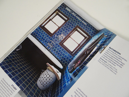 """page from the """"Retro Perspective"""" feature in the November 2013 edition of Homes & Gardens Magazine"""