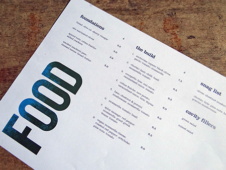 Site Pizzeria food menu