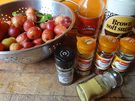 spiced plum chutney ingredients
