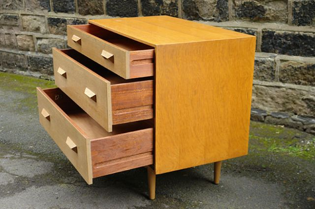 Vintage Stag chest of drawers with drawers open | H is for Home