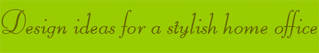 'Design ideas for a stylish home' blog post banner