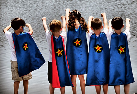 kids' DIY superhero capes