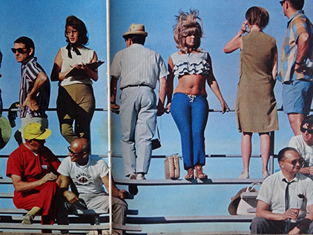 photograph of people at the seaside in summer from an original Sunday Times magazine from 1966