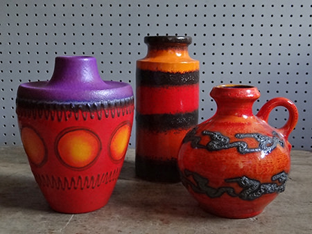Trio of vintage West German vases | H is for Home