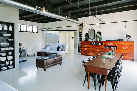 Vintage industrial factory conversion
