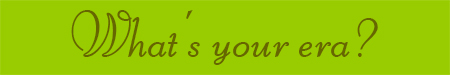 'What's your era?' blog post banner