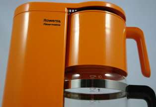 Vintage orange Rowenta coffee machine