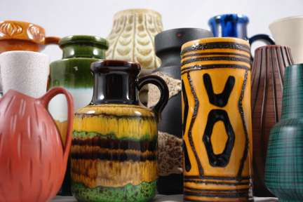 Collection of West German 'Fat Lava' vases