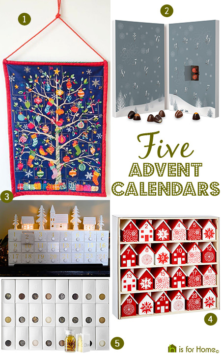 Selection of 5 advent calendars