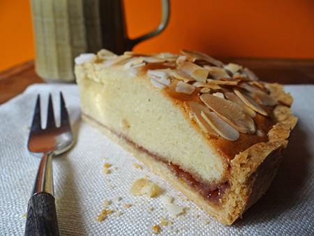 Slice of home-made Bakewell tart via @hisforhome