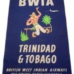 Wednesday Wish: vintage BWIA Trinidad & Tobago travel poster