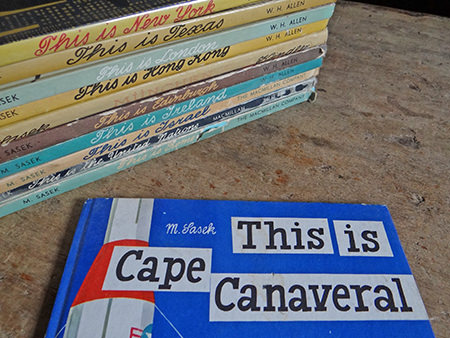 Vintage This is Cape Canaveral book with other titles in the series by Miroslav Sasek | H is for Home