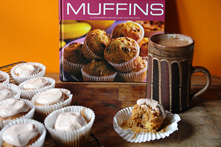 Home-made carrot muffins   H is for Home
