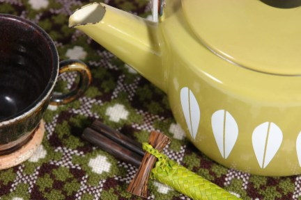 Welsh wool place mat with Cathrineholm kettle