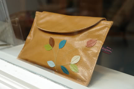 clutch bag available from Suzanne Devine at Manchester Craft & Design Centre