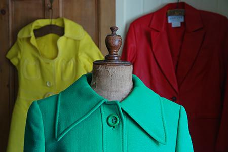 Colourful vintage ladies fashion
