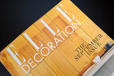 Elle Decoration Magazine cover: September 2013