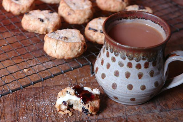Home-made fat rascals and mug of tea | H is for Home