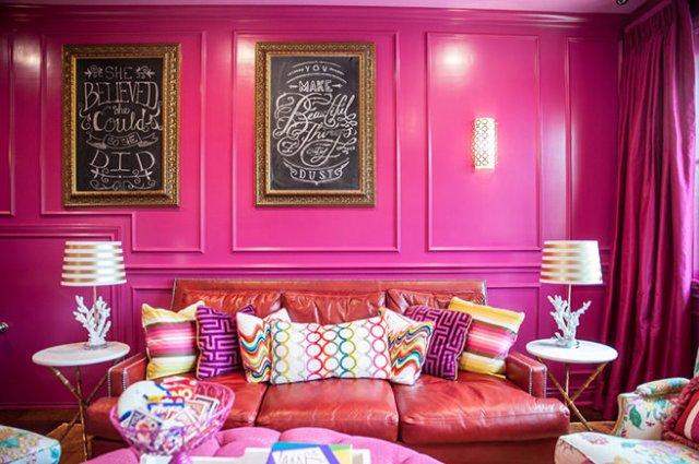 Hibiscus pink games room