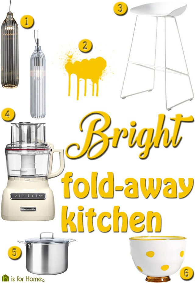 Get their look: Bright fold-away kitchen | H is for Home