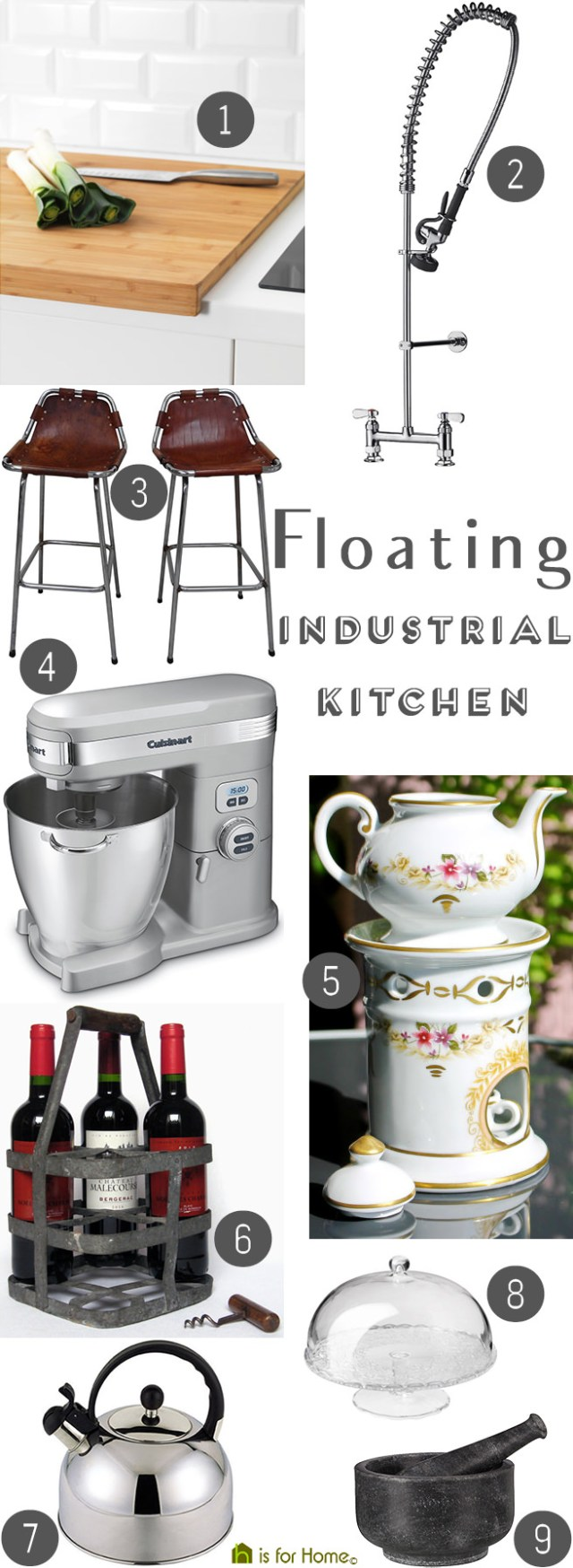 Get the look: Floating industrial kitchen | H is for Home