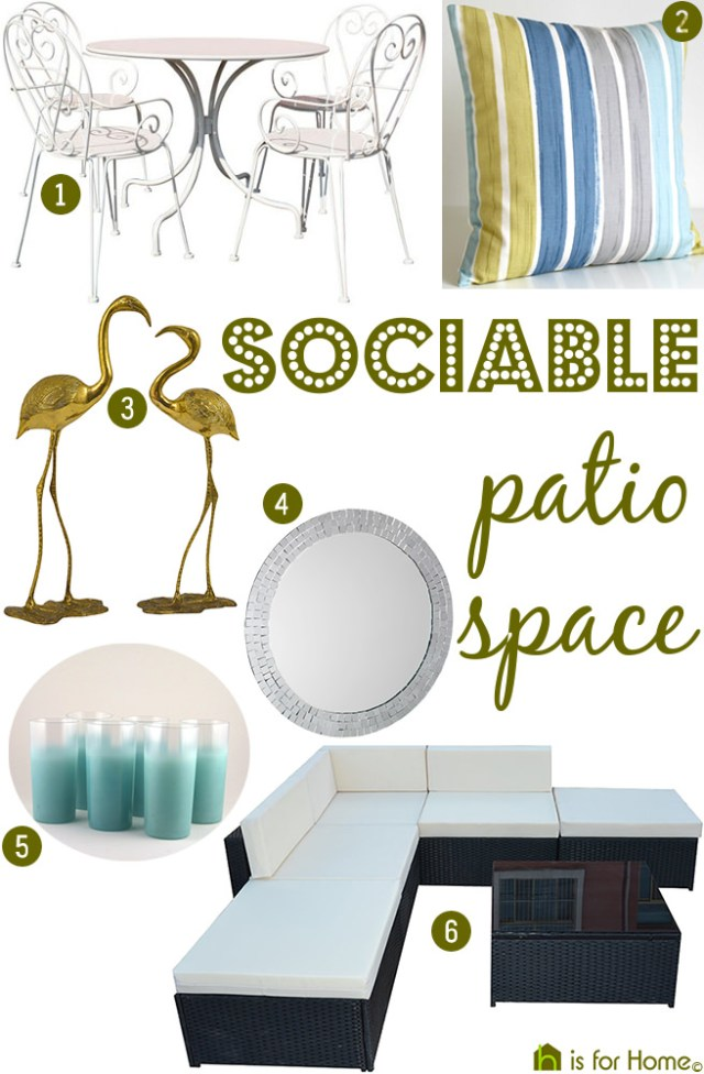 Get their look: sociable patio space | H is for Home
