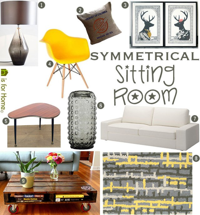 Get their look: Symmetrical sitting room | H is for Home