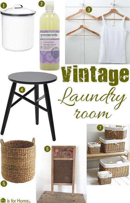 Vintage Laundry Room Items