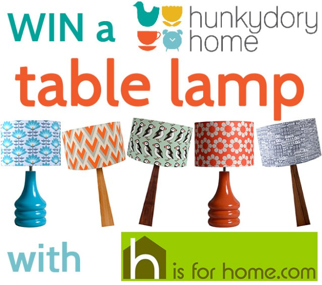 Win a Hunkydory Home table lamp | H is for Home