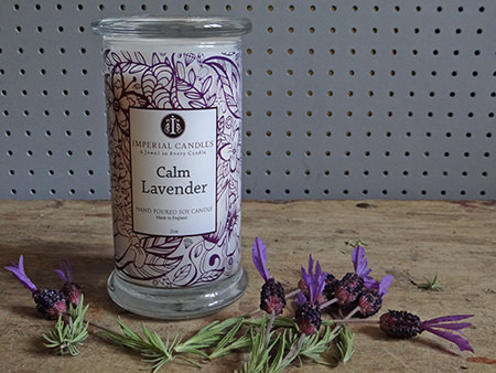 Imperial Candles 100% natural soy wax candle in Calm Lavender