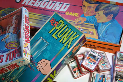 Collection of vintage board games | H is for Home