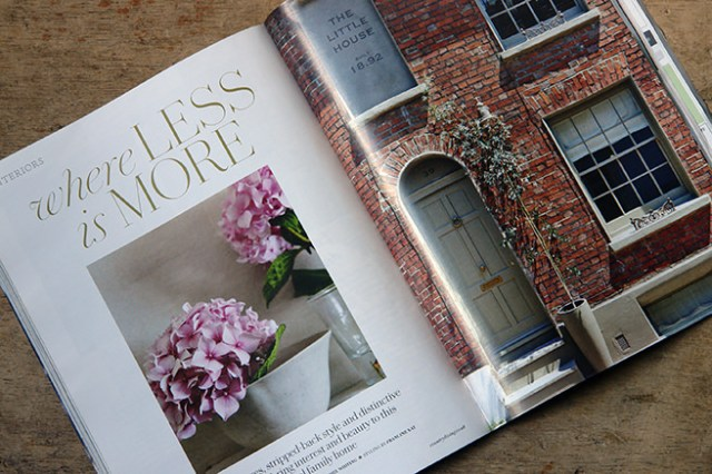 'Less is More' article title page in the May 2016 edition of Country Living magazine